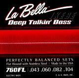 La Bella �ԥ�٥�ա�760FL�� Flat Wound Stainless Steel Bass Strings