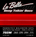 La Bella 《ラベラ》【760N】 BLACK NYLON TAPE WOUND Bass Strings 4弦用ブラックナイロン弦
