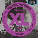 D'Addario 《ダダリオ》Nickel Wound Guitar/Bass Strings EXL156 [Fender Bass VI用]