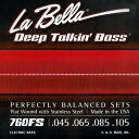 La Bella 《ラベラ》 【760FS】 Flat Wound Stainless Steel Bass Strings
