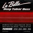 "La Bella 《ラベラ》 【760N HBB】for Hofner ""Beatle Bass"" [Black Nylon Tape Wound]"