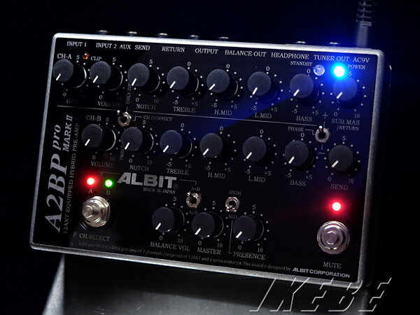 ALBIT《アルビット》 A2BP pro MARK II [12AX7 Equipped Bass Pre-amp,2ch]