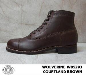 WOLVERINEROCKFORD(1000MILEBOOTCAPTOE)/W05293HORWEENBROWN【ウルヴァリンロックフォード(1000マイルブーツキャップトゥー)ホーウィン】
