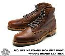 ウルヴァリン 1000マイルブーツ ブラウン ホーウィン クロムエクセル レザー メンズ ブーツ ウルバリン WOLVERINE 1000 MILE BOOT EVANS W40049 Brown Horween Chromexcel Leather MADE IN USA