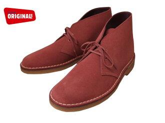 Clarks 男士沙漠靴智利麂皮靴子 Clarks 沙漠啟動 20357906 辣椒麂皮絨英國標準