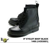 �ɥ������ޡ����� 8�ۡ��� ��� �֡��� �֥�å� Dr.Martens 1460 MONO 8 EYE BOOT 14353001 BLACK