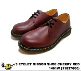 ドクターマーチン 3ホール ギブソン レディース シューズ Dr.Martens 1461W 3EYE GIBSON SHOE 11837600 CHERRY RED