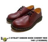 ドクターマーチン 3ホール ギブソン メンズ シューズ チェリーレッド Dr.Martens 1461 3EYE GIBSON SHOE 11838600 CHERRY RED