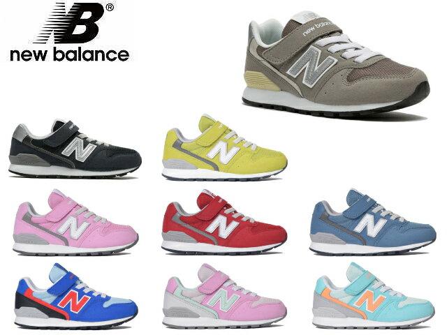 ニューバランスベビーキッズジュニア996グレーネイビー子供靴スニーカーnewbalanceKV996