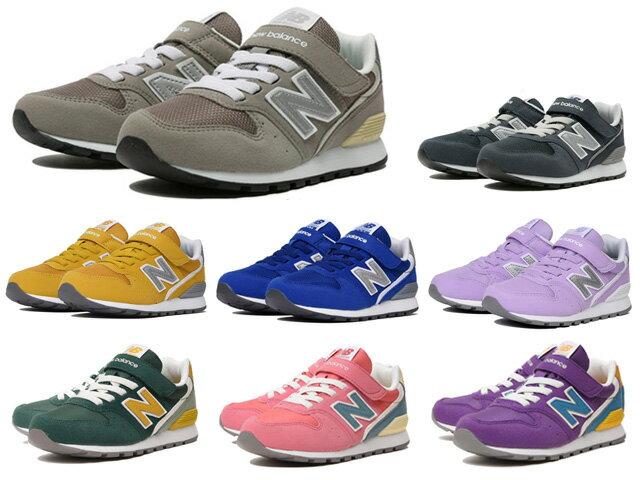 ニューバランスベビーキッズジュニア996グレーネイビーブルーイエローバイオレット子供靴スニーカーne