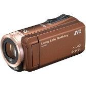 【送料無料】約5時間連続使用のロングバッテリー JVC (ビクター/VICTOR) ビデオカメラ 小型 ハイビジョンメモリームービー Everio(エブリオ) フルハイビジョン (フルHD) 内蔵メモリー 32GB ブラウン GZ-F100-T