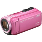 【送料無料】JVC (ビクター/VICTOR) ビデオカメラ 小型 ハイビジョンメモリームービー Everio(エブリオ) フルハイビジョン (フルHD) 内蔵メモリー 32GB ピンク GZ-F100-P