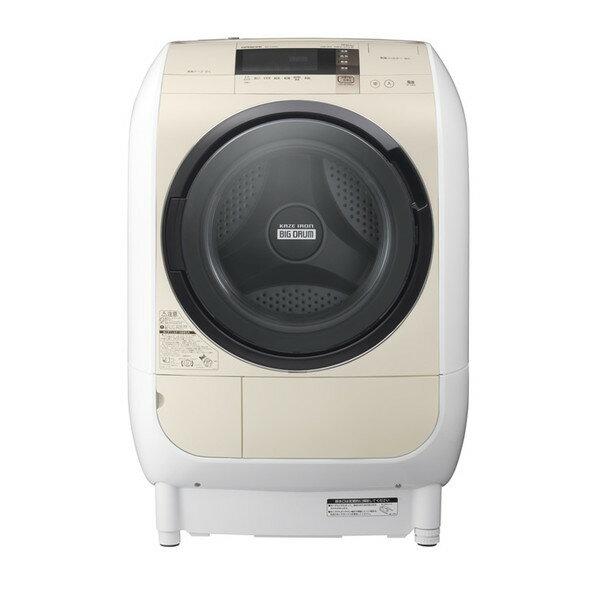【送料無料】【標準設置無料】日立(HITACHI) ドラム式洗濯乾燥機 (ドラム式洗濯機) ヒートリサイクル 風アイロン ビッグドラム 洗濯9.0kg/乾燥6.0kg 左開き ライトベージュ BD-V3700L-C 【代引き不可】【離島配送不可】
