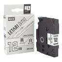 MAX LM-L512BW 白・黒文字 [ビーポップミニ用レタリテープ(幅12mm・8m)]