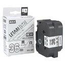 MAX LM-L536BWS 白・黒文字 [ビーポップミニ ケーブルマーキング用テープ(幅36mm・8m)]