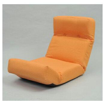 【送料無料】JKプラン ZSY-NHBCK-OR 新ハイバックチェア オレンジ [座椅子]【同梱配送】【き】【沖縄・北海道・離島配送】 さらなるくつろぎを得られるリクライニング座椅子