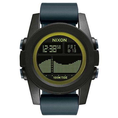 NIXONNX-A2822058ブラック/ダークグレー/シャルトリューズTHEUNITTIDE(ユニットタイド)[クォーツ腕時計(メンズ)]