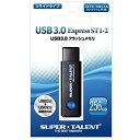 【送料無料】SUPER TALENT ST3U56ES12 ブラック Express ST1-2シリーズ [USBフラッシュメモリー 256GB(USB3.0対...