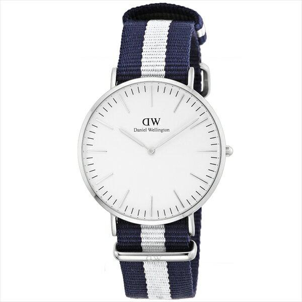 【送料無料】Daniel Wellington 0204DW オフホワイト×ブルー/ホワイト クラシック グラスゴー [腕時計] 時代を超越した、エレガントな航海のスピリットを称えるこの美しい時計は、海辺の夏のエッセンスを形に変えています。