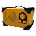 【送料無料】WINTECH/廣華物産 GBR-3C イエロー [防滴防塵現場ラジオ(FMワイドバンド対応)]