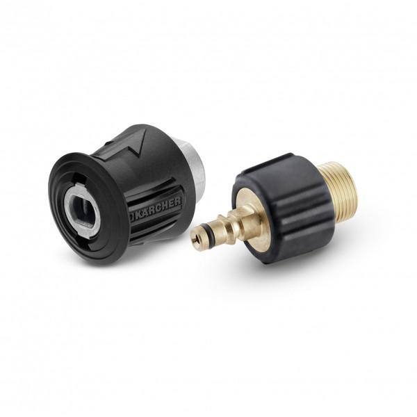 KARCHER(ケルヒャー) 2.643-037.0 クイックカップリングセット (ネジ式の延長高圧ホースをクイックカップリング対応機種に接続) クイックカップリング対応機種に接続 真ちゅう製コネクト クイックコネクトシステム