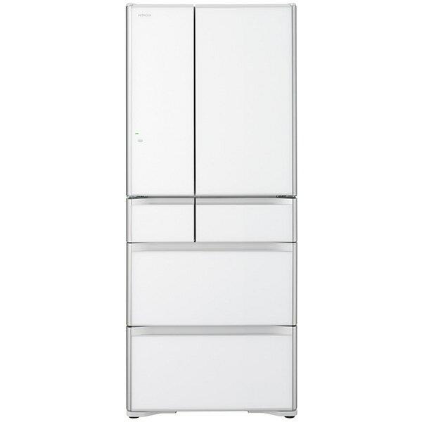 【送料無料】日立 R-XG6200G(XW) クリスタルホワイト 真空チルド [冷凍冷蔵庫(615L・フレンチドア)]