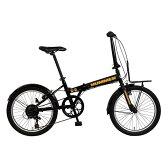 【送料無料】GIC FDB207 TANK ブラック(33847) [折りたたみ自転車(20インチ・7段変速)]【同梱配送不可】【代引き不可】【沖縄・離島配送不可】