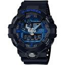 【送料無料】CASIO GA-710-1A2JF ブラック×ブルー G-SHOCK [クォーツ腕時計 (メンズウオッチ)]