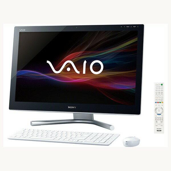 【送料無料】SONY SVL24147CJW ホワイト VAIO L [デスクトップパソコン 24型ワイド液晶 HDD2TB ブ...