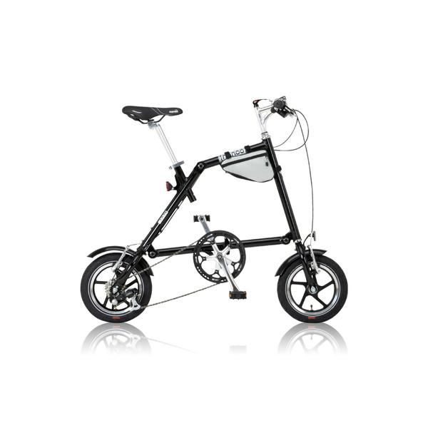 【送料無料】nanoo FD-1207 ブラック [折りたたみ自転車(6段変速)]【同梱配送】【き】【沖縄・北海道・離島配送】