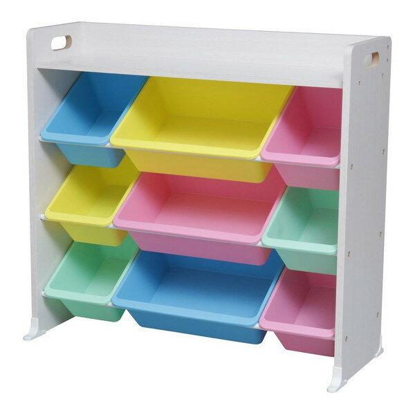 アイリスオーヤマ おもちゃ箱 天板付き パステル