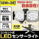 【送料無料】LEDセンサーライト ムサシ LED-AC3036 12W×3灯 RITEX ライテック...