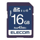 ELECOM MF-FS016GU11R SDHCカード データ復旧サービス付 UHS-I U1 45MB s 16GB