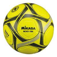 MIKASA MC451-YBK [サッカー4号(小学校) 手縫い 検定球 黄黒]の画像