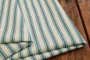 ●コットン ヘリンボン生地 先染め ストライプ《オフにヴィンテージブルー》■ヘリンボン織りになっており、とってもナチュラルな雰囲気です♪【 コットン 生地 】【...