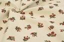 お買い得!●コットンシャツコール生地 アンティークフラワー柄《レッド》■秋冬におすすめの柔らかなシャツコール生地です!