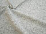 広幅190cm コットン 柔らか裏毛杢ニット生地 無地《杢グレー》■TOP糸で編みたてた裏毛ニットです。少し明るめの杢グレーですのでこれから春にかけてお使いいただけます?