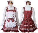 【ハロウィン】【ロリィタ】【ゴスロリ】+G.L.P8036赤エプロン付きジャンパースカートSET