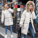 ショッピングベンチコート 防寒 ダウンコート ベンチコート 中綿コート ジャケット  コート ダウンジャケット ロング丈 ミモレ丈 紐 フード付き ファー付き 大きいサイズ オーバーサイズ 温かい 軽量 冬 M L LL 3L 4L