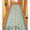 三重織 い草廊下敷 約80×250cm ネイビー TSN340481 [ラッピング不可][代引不可][同梱不可]