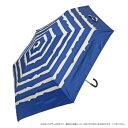 ショッピング折りたたみ TANPOPO 晴雨兼用 50CM三つ折り畳み傘 さざ波ボーダー 紺 54415 [ラッピング不可][代引不可][同梱不可]