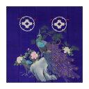 トレシー 加賀のお国染めシリーズ 花嫁のれん柄 19×19cm A1919P-ERIHANA P543 牡丹に孔雀
