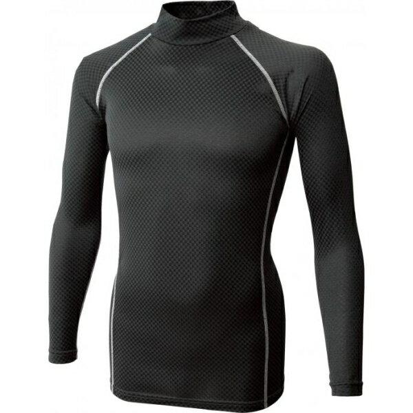 JW-172 BT織柄チェック ハイネックシャツ ブラック サイズ:3L [キャンセル・変更・返品不可]