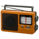 AM/FMポータブルラジオ(木目調/AC・DC両電源対応) (RAD-T780Z-WK) [キャンセル・変更・返品不可]