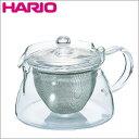 【HARIO(ハリオ)茶茶急須 角 450ml CHJKN-45T】茶こしを外せば電子レンジOKの耐熱ガラス製。お茶の色合いを目で愉しめます♪[返品・交換・キャンセル不可]