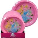 Disney - ディズニープリンセス プラスチックプレート 11677 ディズニー プリンセス 食器 皿 インポート プレート 子供 ピンク 女の子 Disney 送料無料 メール便配送