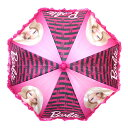 PT10倍 3日19時〜 バービー キッズアンブレラ 11728 Barbie 傘 アンブレラ かさ 子供用 雨 輸入 インポート ゆうパケット不可
