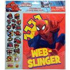 子供会 景品 スパイダーマン SPIDER-MAN ステッカーブック 12184 MARVEL シール ステッカー シートおもちゃ マーベル 送料無料 メール便配送