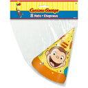 おさるのジョージ パーティーハット 8個入り 三角帽 パーティハット パーティーグッズ 帽子 お誕生日会 Curious George バースデー とんがり帽子 誕生会 パーティー キャラクター 雑貨 グッズ 13277
