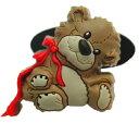スージーズー ジビッツ風サンダルアクセサリー  シュードゥードゥル テディベア 4065 Suzy's Zoo キャラクター 雑貨 グッズ 送料無料 メール便配送